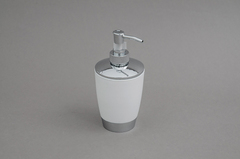 DISPENSER JABON BLANCO/SILVER 8*17H