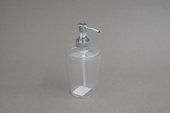DISPENSER JABON ACRILICO TRANSPARENTE 8*18CM